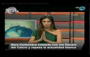 Sara Carbonero interviene en los Oscars del Calcio