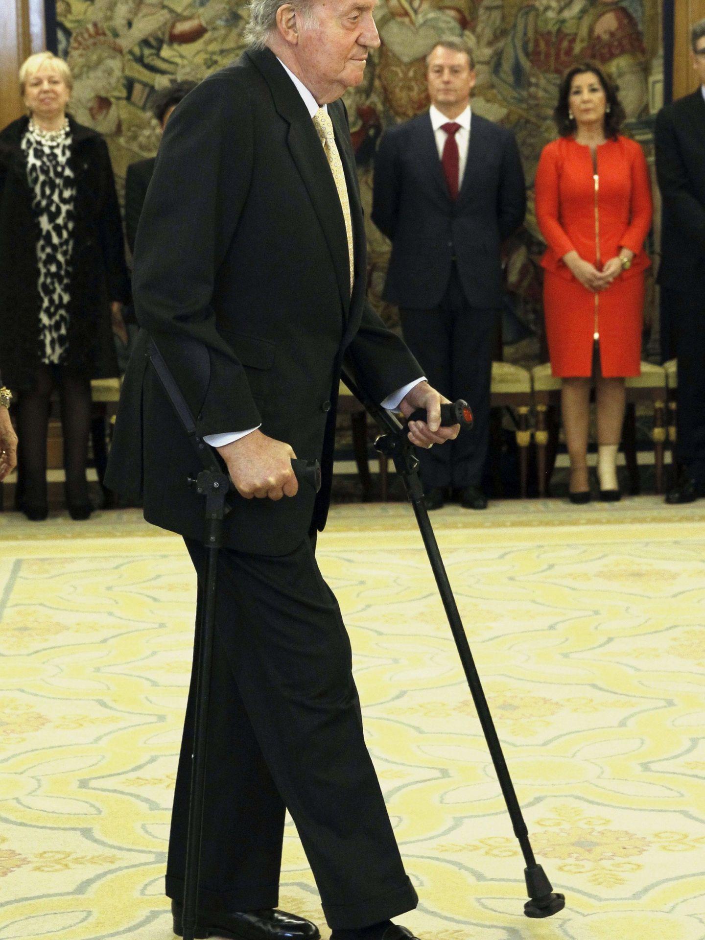 Juan Carlos I, en 2013 en Zarzuela. (EFE)