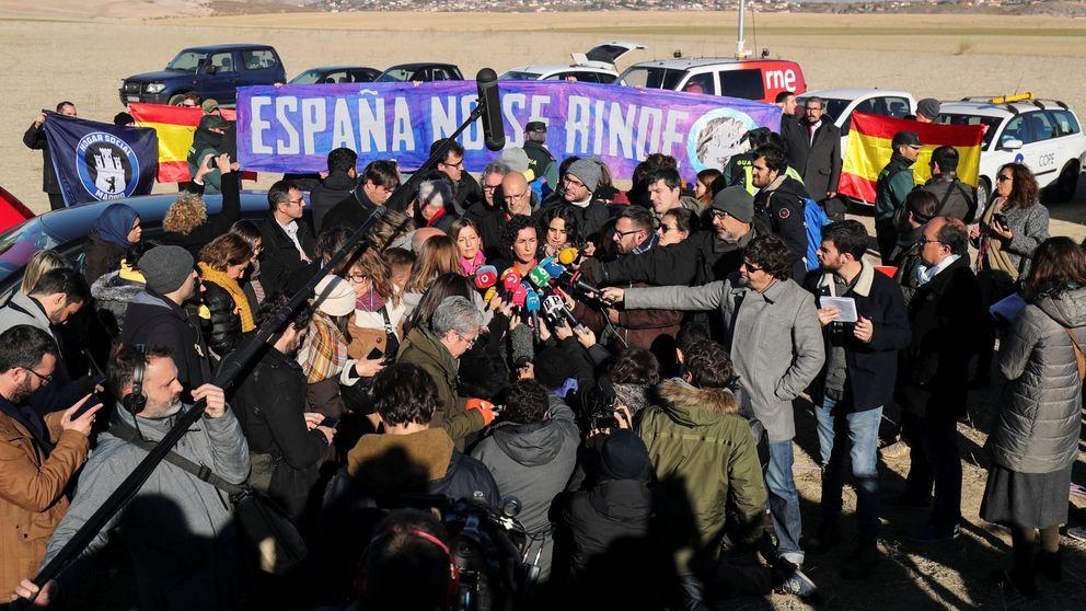 ERC arropa (30 minutos) a Junqueras en Estremera (Madrid) y regresa a Cataluña