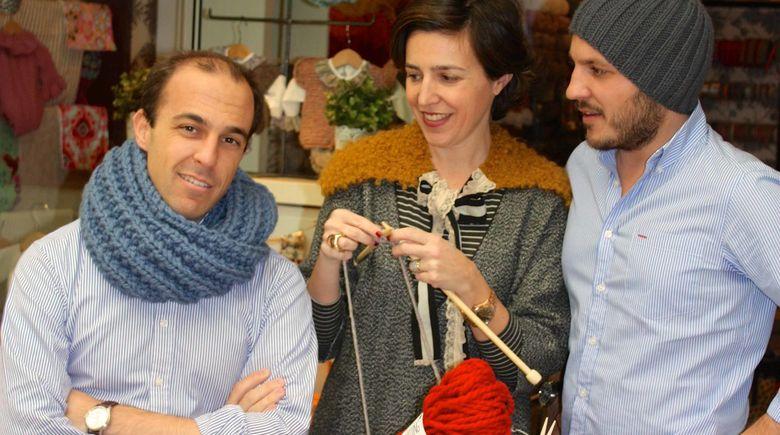 Foto: Los Prieto gestionan 'Knitting Point' como buenos hermanos