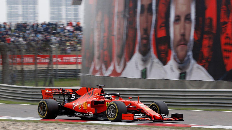 Sebastian Vettel durante el Gran Premio de China. (Reuters)