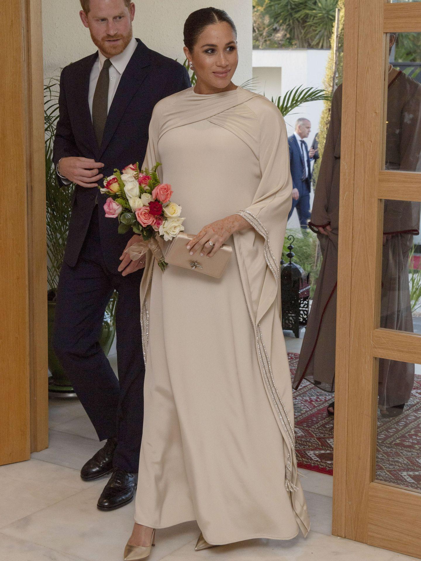 Look de Meghan Markle para la cena de gala en Marruecos. (EFE)