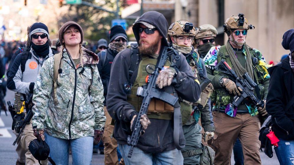 Foto: Protestas recientes sobre el control de armas en los Estados Unidos.  Foto: EFE Jim Lo Scalzo