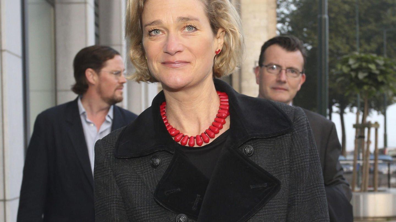 Delphine Boël, a su llegada al primer día del juicio en el que intentó demostrar que era la hija del rey Alberto II. (EFE)
