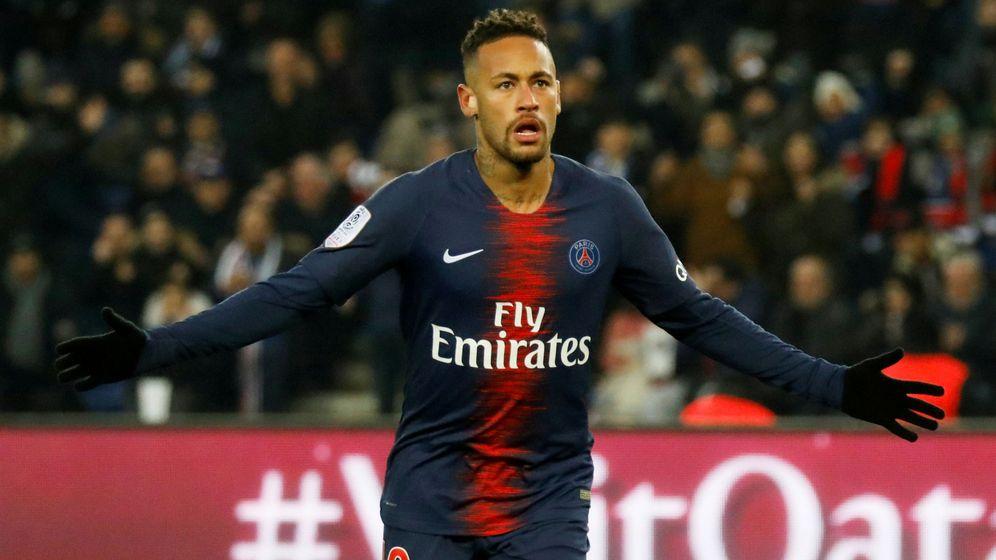 Foto: Neymar celebra un gol con el PSG esta temporada. (Reuters)