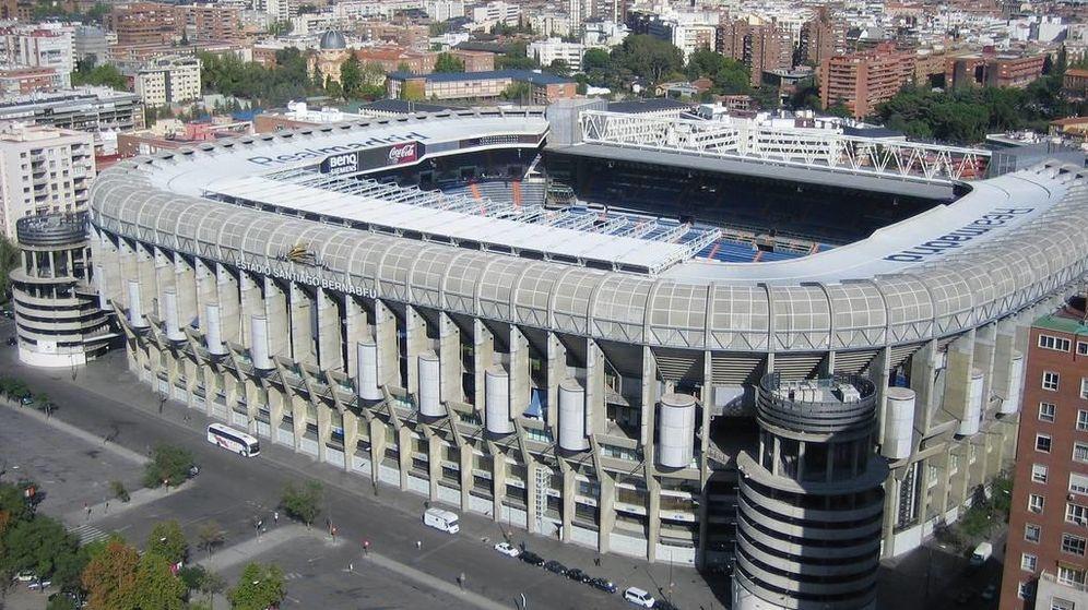 Foto: Vista aérea del estadio Santiago Bernabéu. (EFE)