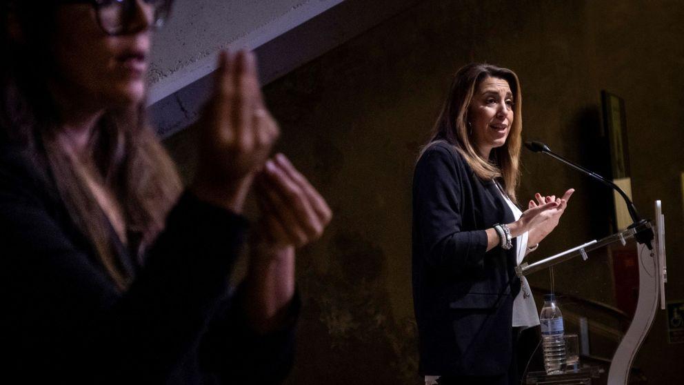 Susana Díaz eleva la voz para sumarse a los barones que piden el 155 en Cataluña