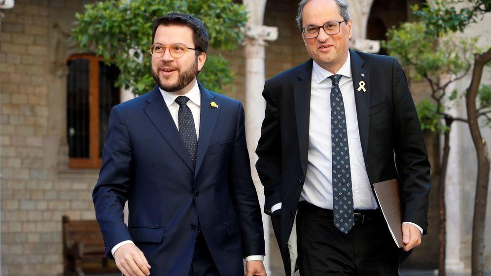 Foto: Quim Torra, junto a Pere Aragonès. (EFE)