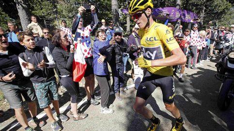 Los jueces dejan líder a Froome tras un accidentado final de etapa en Ventoux
