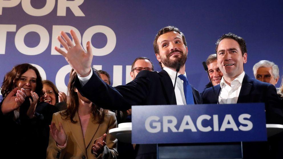 Casado gana el centro con la caída de Rivera, pero choca con el ascenso de Vox