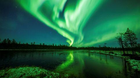 Las auroras boreales iluminan el cielo de la Laponia finlandesa