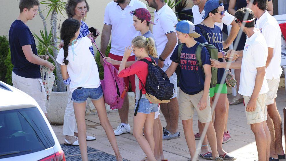 Los hijos de la infanta Cristina se suman a sus primos en el tradicional curso de vela