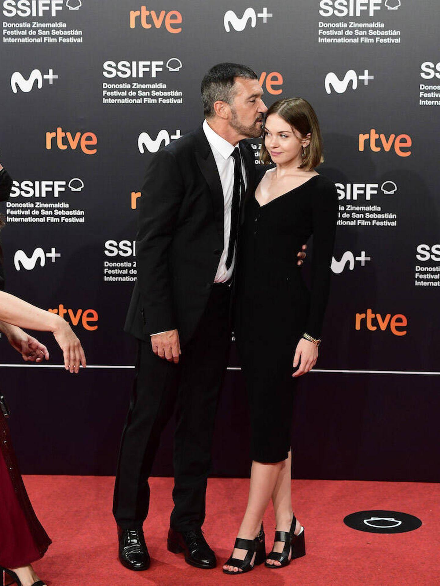 Antonio Banderas y su hija Stella. (LP)