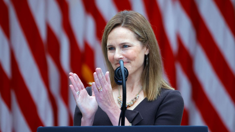Foto: La jueza consercadora Amy Coney Barrett. (Reuters)