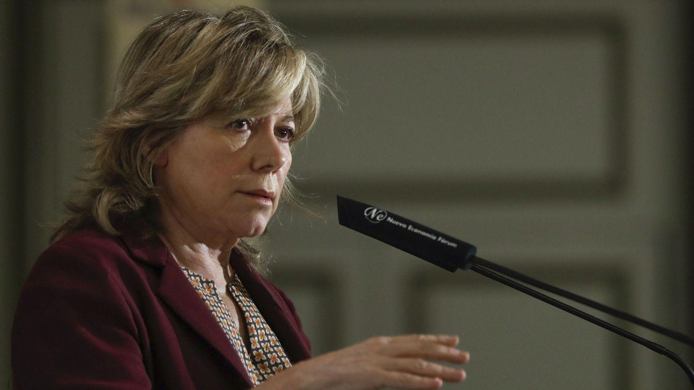 La eurodiputada Pilar del Castillo durante su participación en el Foro Nueva Economía 'Unión Europea, transformación digital y mercado único' (E.N. / EFE)