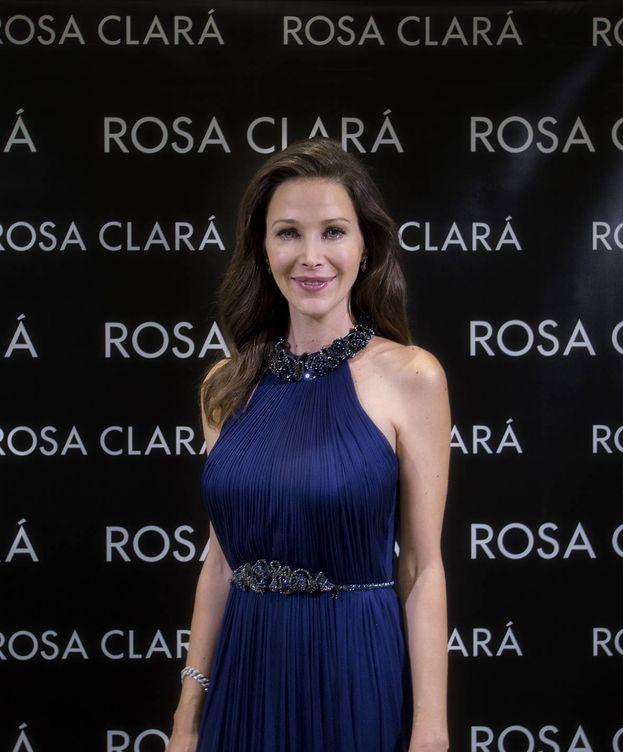 Foto: Rosa Clará durante el acto. (Rosa Clará)