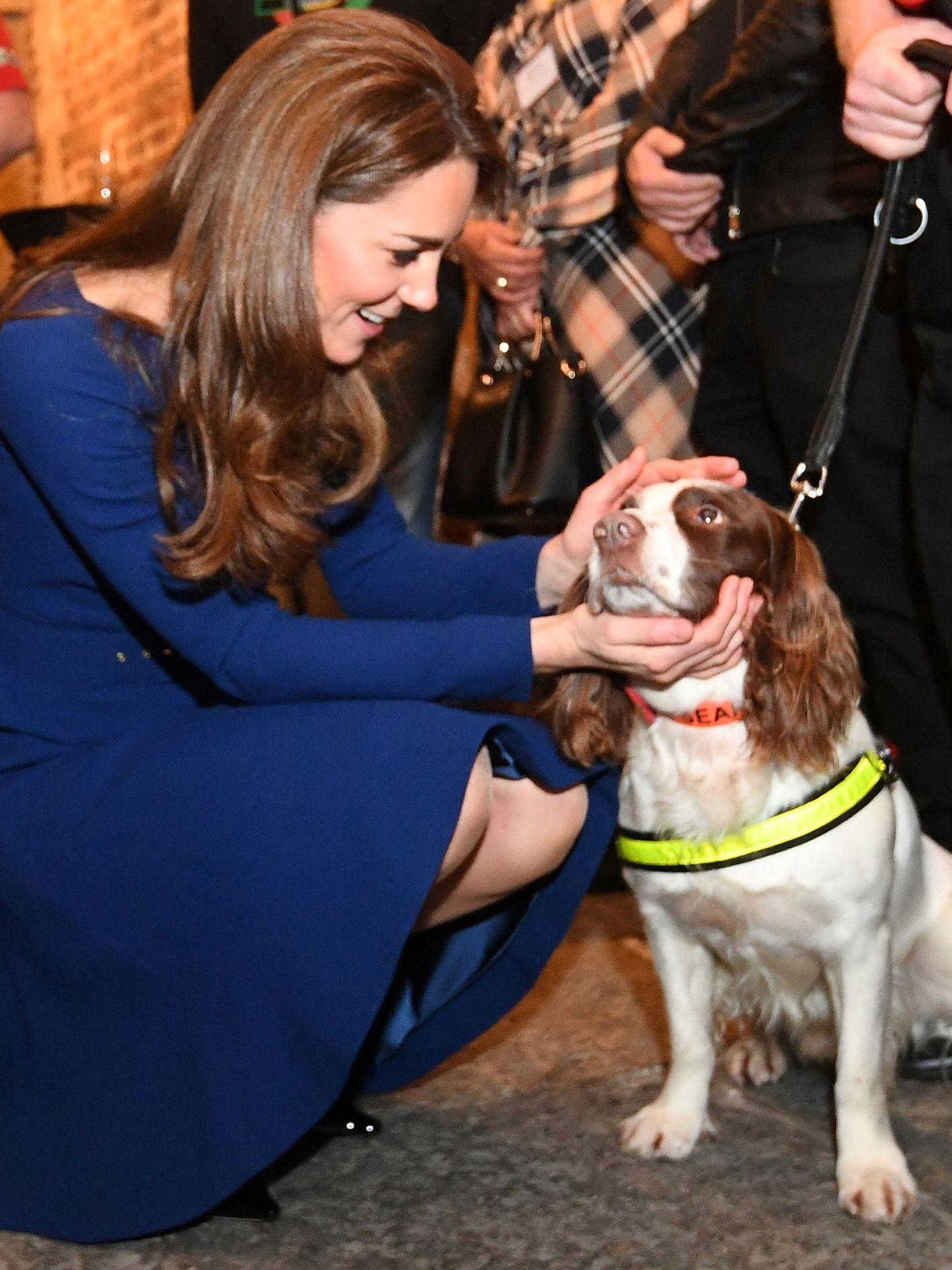 Kate con un perrito. (Reuters)