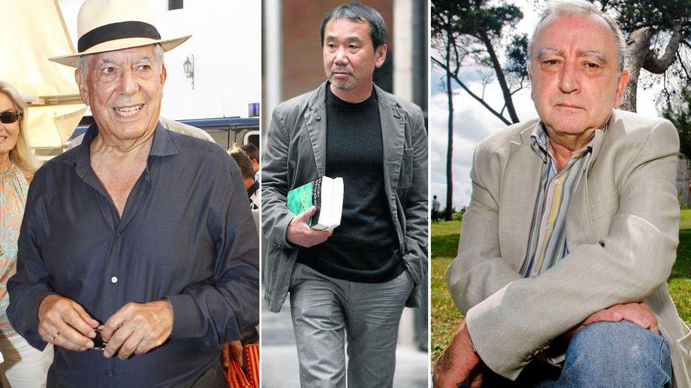 Foto: Vargas Llosa, Murakami y Chirbes