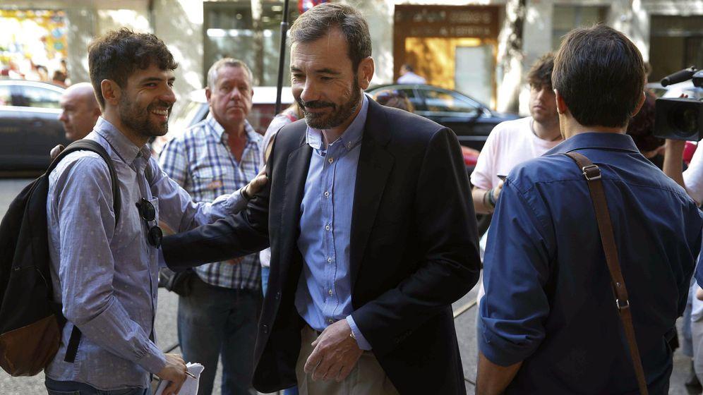 Foto: Tomás Gómez, el pasado 27 de junio a su llegada a la ejecutiva federal del PSOE, en Ferraz. (EFE)
