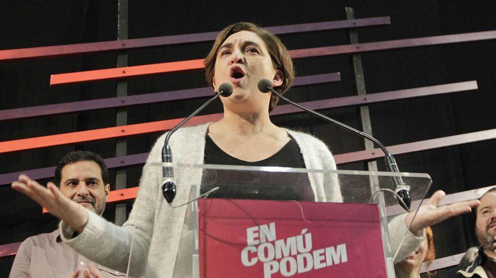 Foto: La alcaldesa de Barcelona, Ada Colau, durante un mitin electoral. (EFE)