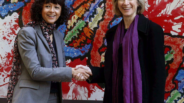 Las bioquímicas Emmanuelle Charpentier y Jennifer Doudna, galardonadas con el Nobel de Química por el CRISPR. (Foto: EFE)