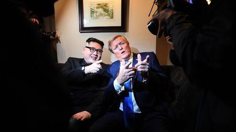 Los imitadores de Kim Jong-un y Donald Trump, antes de la cumbre de Vietnam