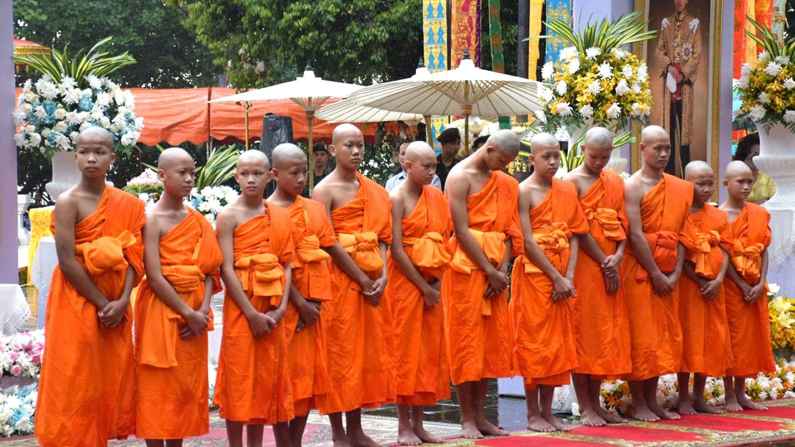 Foto: Los niños tailandeses rescatados de la cueva (EFE)