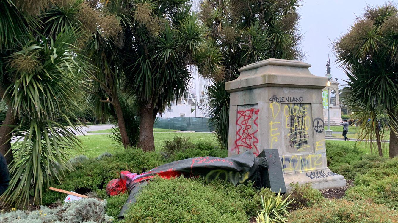 Boadilla (Madrid) pide acoger las estatuas vandalizadas en San Francisco (EEUU)