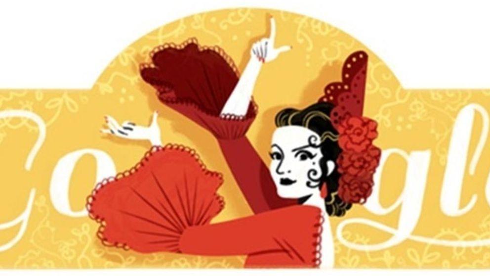 Google homenajea a Lola Flores con un 'doodle' muy flamenco