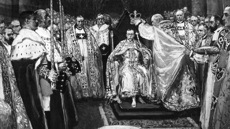 La coronación de Jorge V. (Getty)