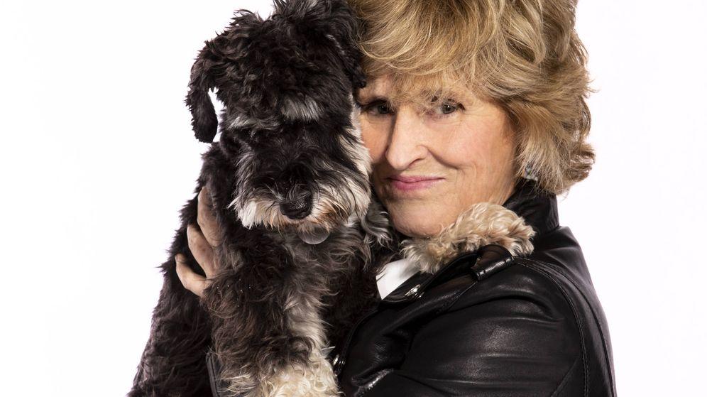 Foto: Mercedes Milá con su perro Scott. (Movistar)