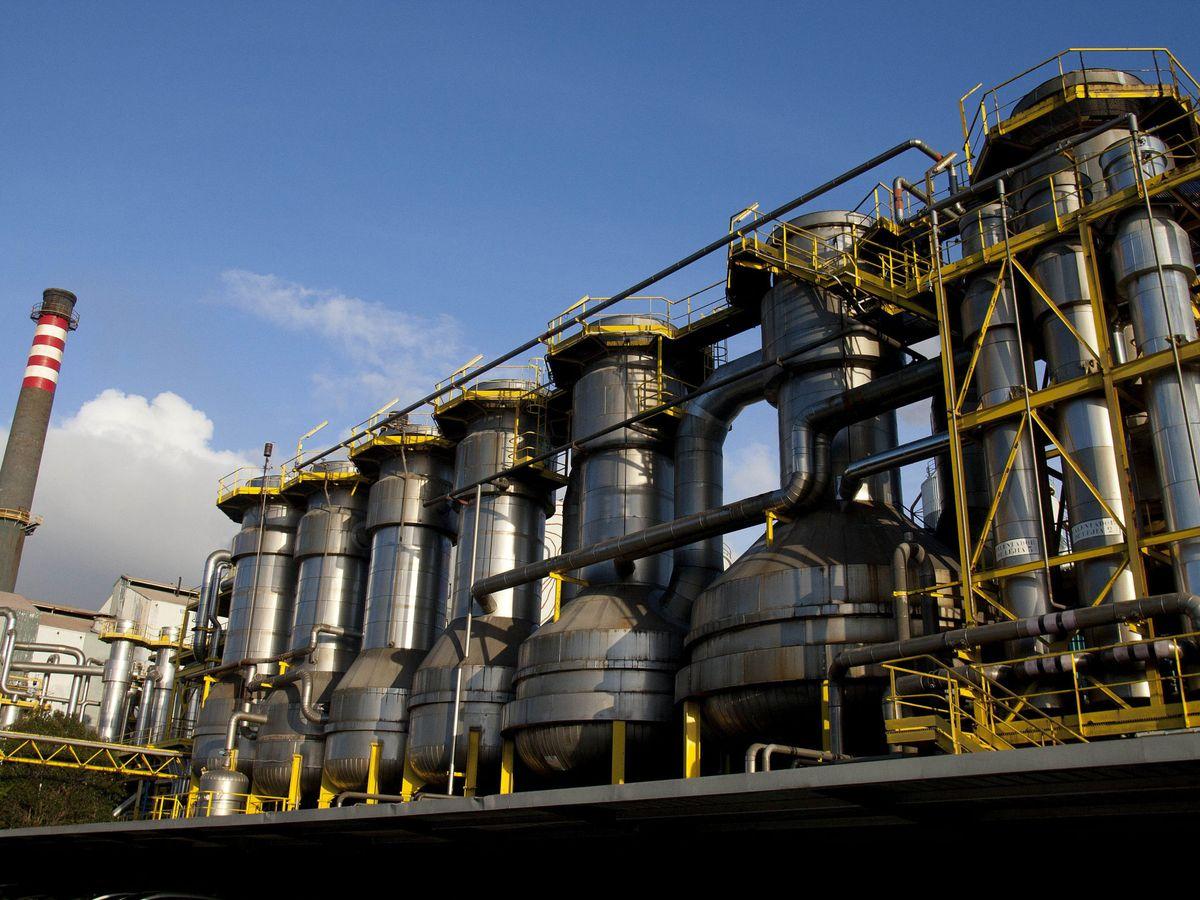 Foto: Fábrica de Ence en Pontevedra (EFE)