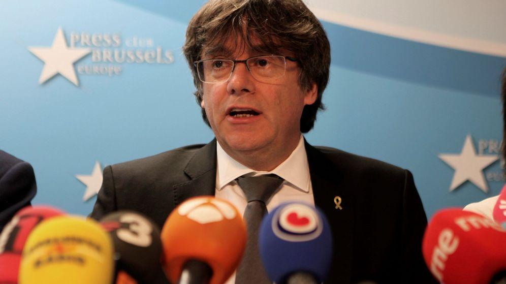 Foto: El expresidente de la Generalitat Carles Puigdemont en Bruselas. (EFE)