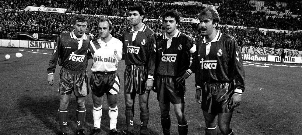 Foto: Zaragoza, 1992, la única vez que coincidieron todos de titular... pero en distintos equipos (Cordon Press)