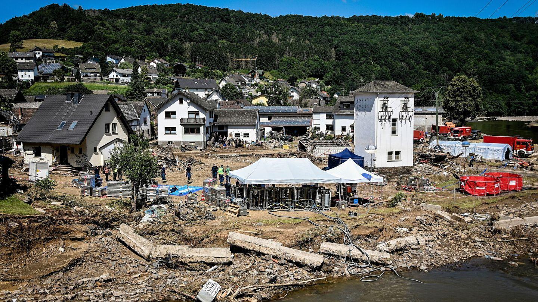Los efectos de la inundación en Schuld, Alemania. (EFE)