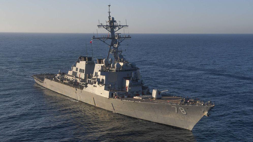 Foto: El USS Porter, uno de los barcos desplegados por EEUU en el Mediterráneo Oriental. (Reuters)