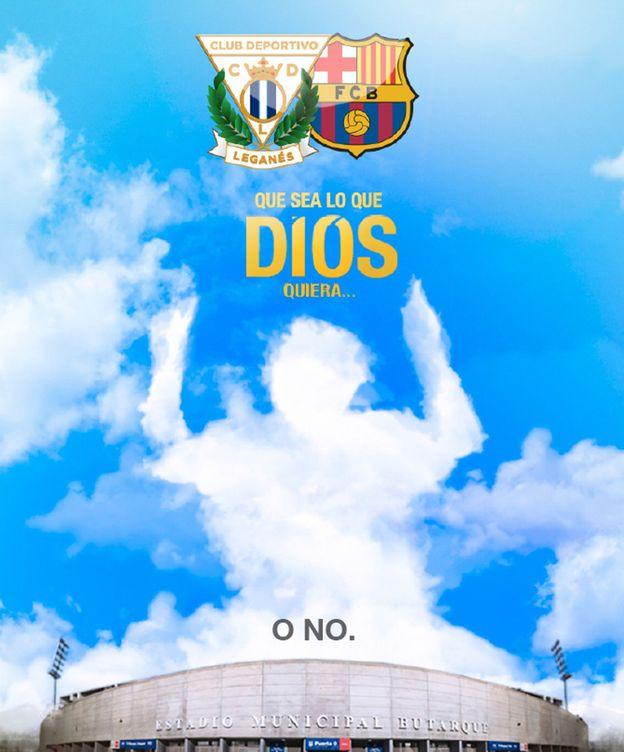 Foto: El provocativo cartel del Leganés para el partido. (U.D.Leganés)