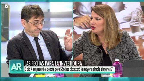 Tenso enfrentamiento entre María Claver y Monedero: No seas un impresentable