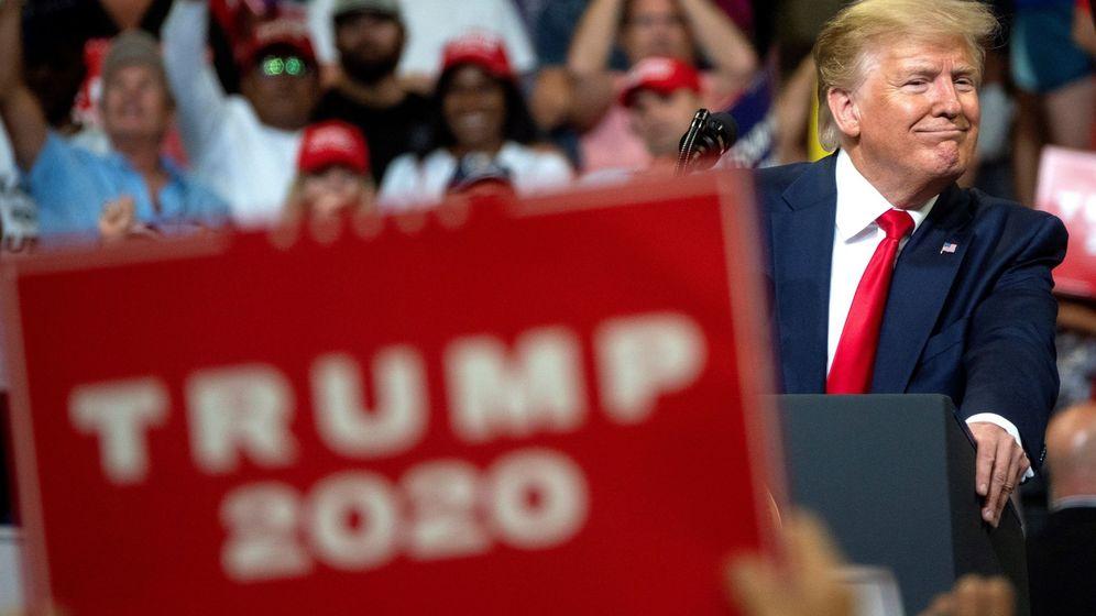 Foto: El presidente de los Estados Unidos, Donald J. Trump, habla durante el anuncio del inicio de su campaña para la reelección de 2020 en Orlando, Florida. (EFE)