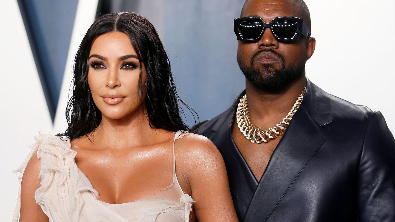 El rapero Kanye West, junto a su esposa Kim Kardashian. (Reuters)