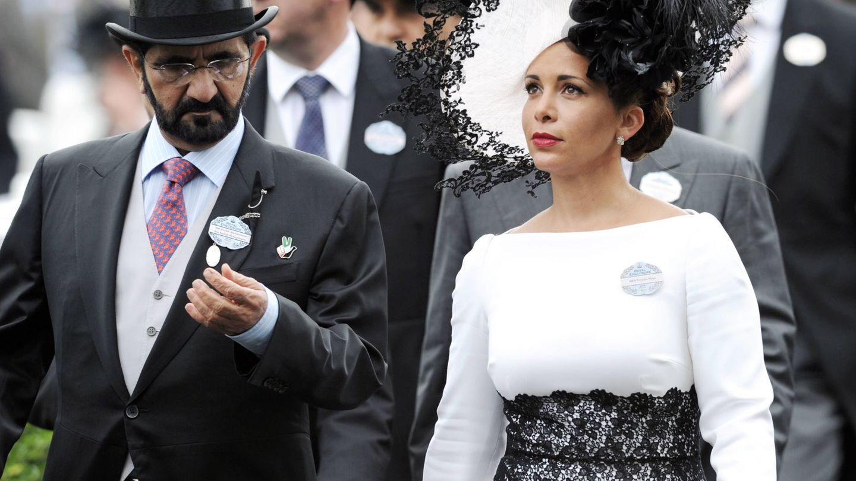 La princesa Haya de Jordania con Mohammed bin Rashid Al Maktoum en Ascot. (Getty)