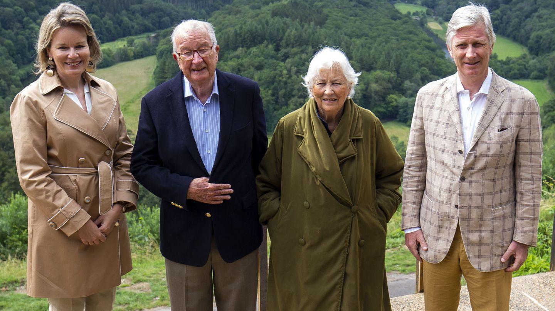 La familia real belga en una de sus últimas apariciones, el pasado mes de junio. (EFE)