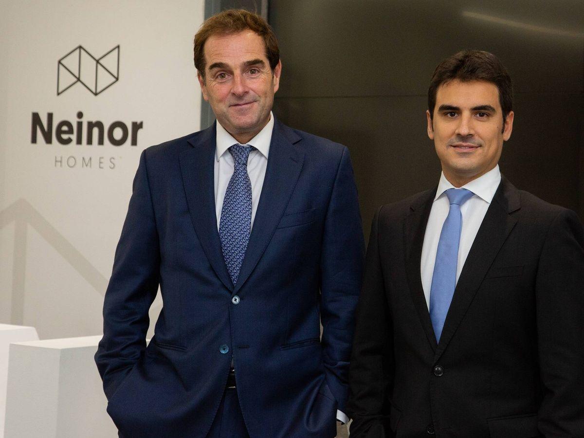 Foto: Borja García-Egotxeaga, CEO de Neinor Homes, y Jordi Argemí, consejero delegado adjunto.