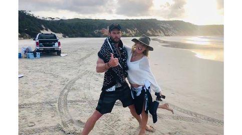 Elsa Pataky, Chris Hemsworth y una medusa: la familia se divierte en la playa