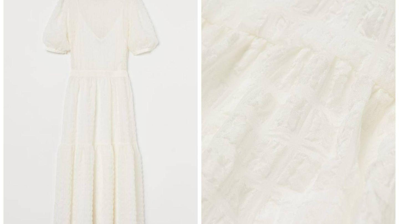 Vestido para novias de verano de HyM. (Cortesía)