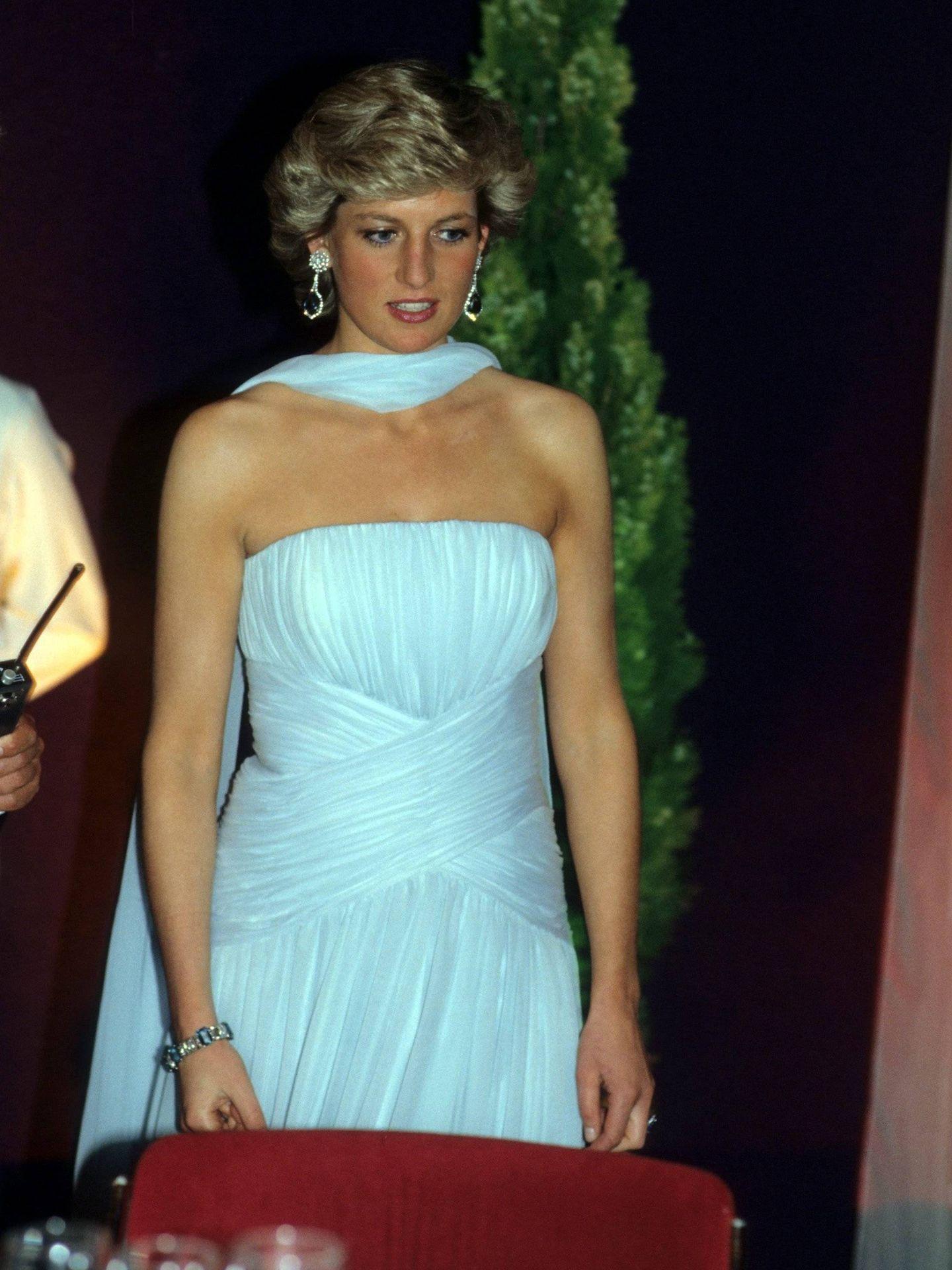 Lady Di, en Cannes 1987. (Cordon Press)