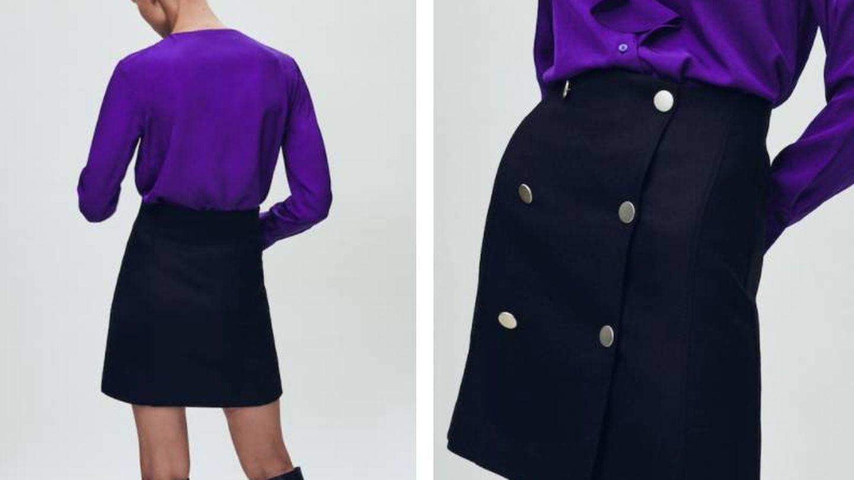 Falda mini de Massimo Dutti. (Cortesía)