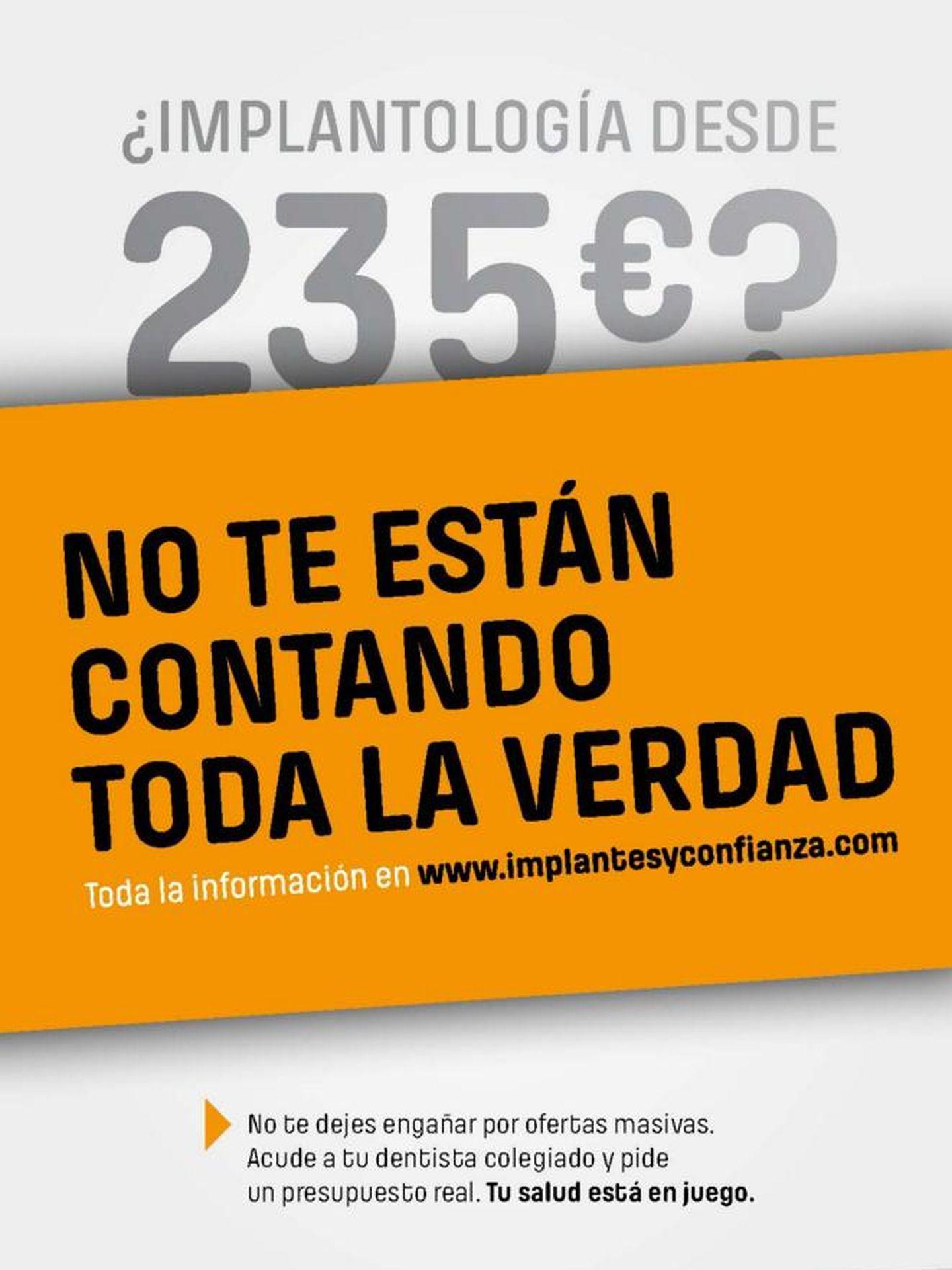 Así era la campaña promovida por los colegios de odontólogos de Valencia y Castellón.