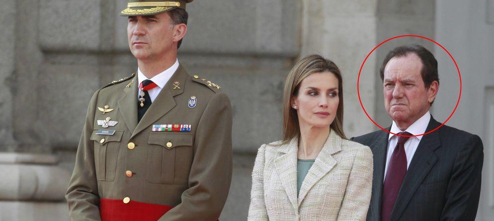 Foto: Jaime Alfonsín, junto a los Reyes Felipe VI y Doña Letizia.