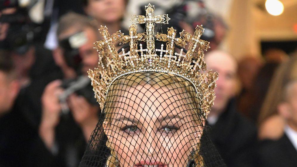 Foto: Madonna en modo rubia. (Getty)